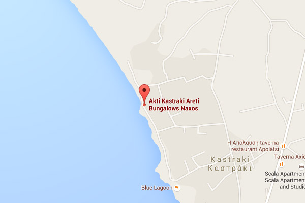 Akti Kastraki areti bungalows location