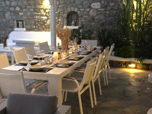 Villa Mando 2, Outside Dining Table