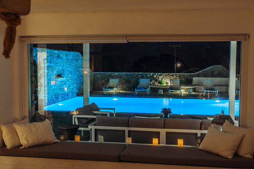 Villa Mando 1, Living room Pool View