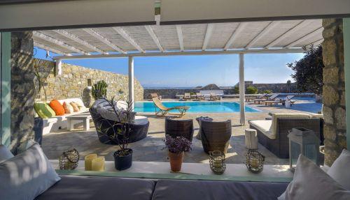 Villa Mando 1, Outside Living room and pool view