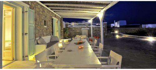 Dining area night view, Villa Mando 2