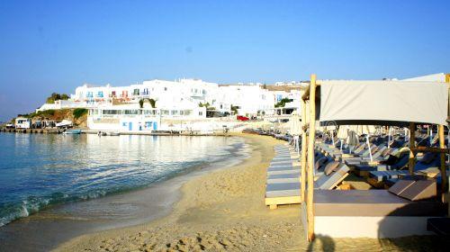 Platis Gialos beach, Mykonos island