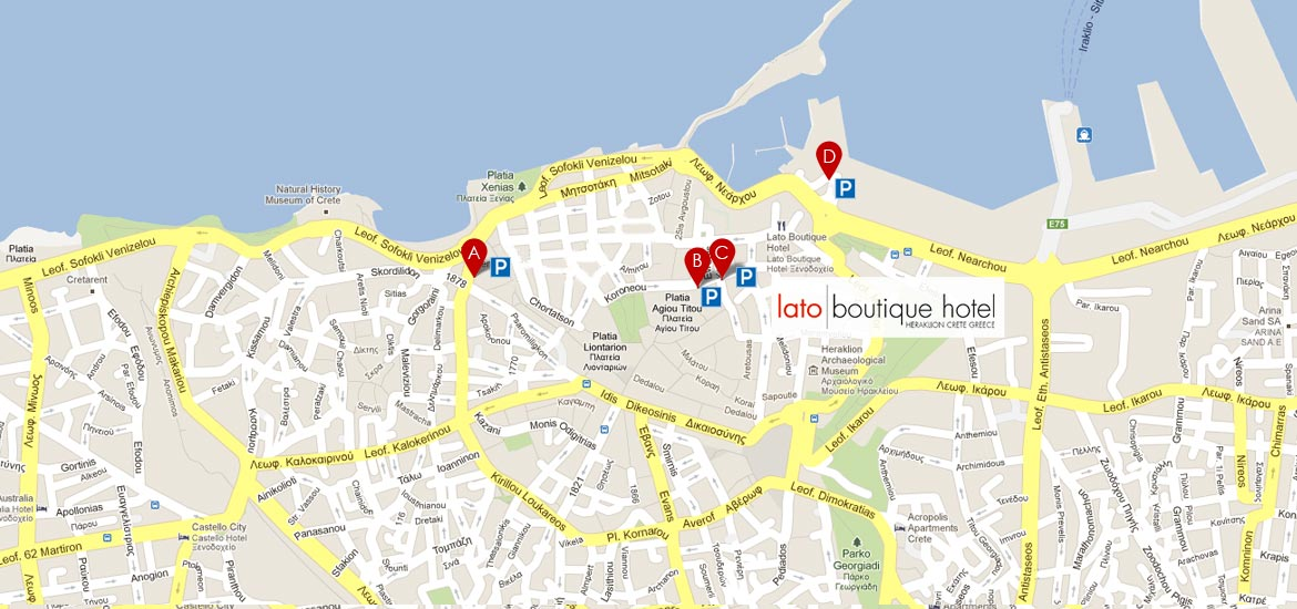 Parking Map Lato Boutique Hotel