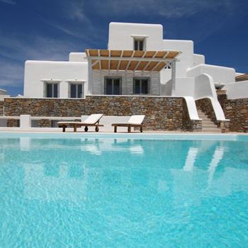Indepent Villa Kalafatis, Home and Pool View