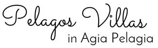 Pelagos Villas in Agia Pelagia, Crete - Logo
